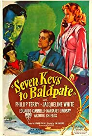 Eduardo Ciannelli, Jimmy Conlin, Phillip Terry, and Jacqueline White in Seven Keys to Baldpate (1947)