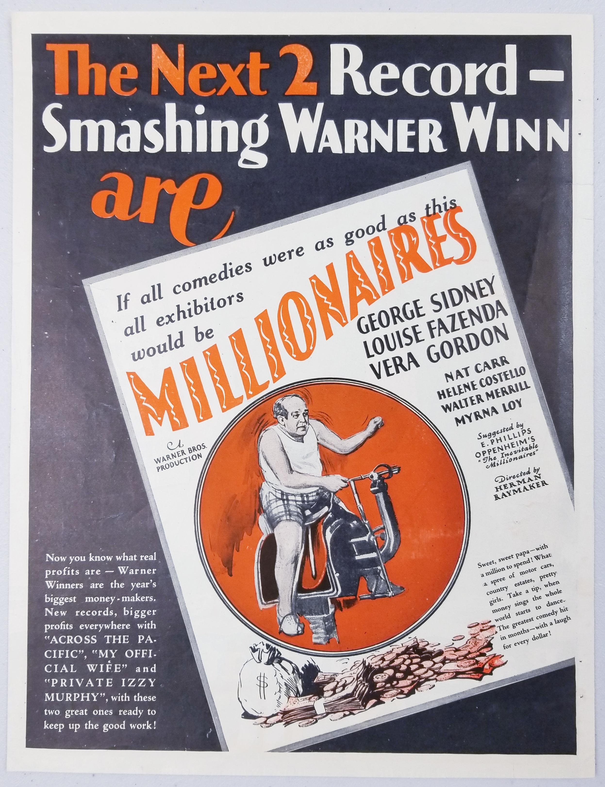 George Sidney in Millionaires (1926)