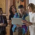 Charlize Theron, Seth Rogen, June Diane Raphael, and Ravi Patel in Long Shot (2019)
