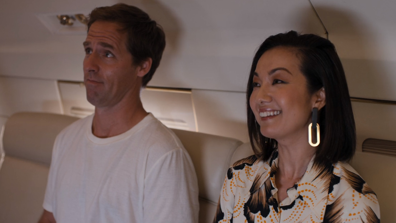 Nat Faxon and Jae Suh Park in Friends from College (2017)