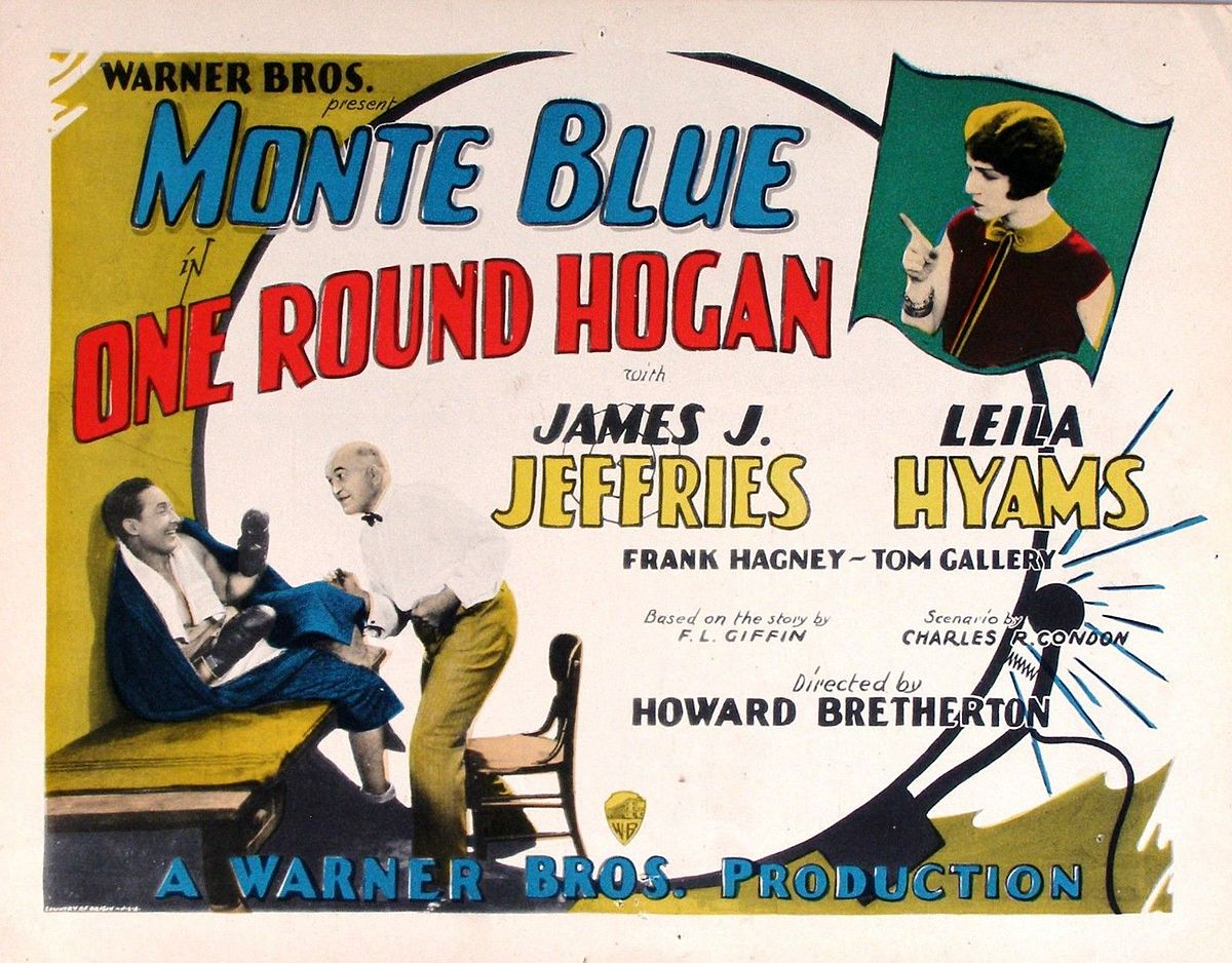 Monte Blue, Leila Hyams, and James J. Jeffries in One-Round Hogan (1927)