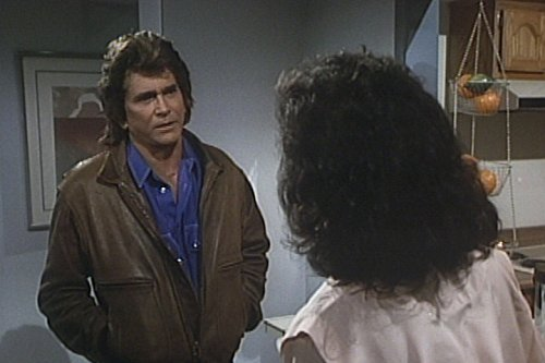 Michael Landon and Robin Strasser in Highway to Heaven (1984)