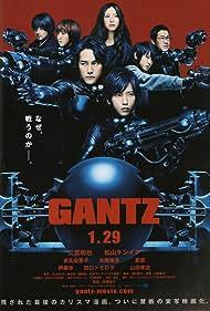 Kazunari Ninomiya, Tomorô Taguchi, Takayuki Yamada, Ken'ichi Matsuyama, Kanata Hongô, Yuriko Yoshitaka, and Natsuna in Gantz (2010)