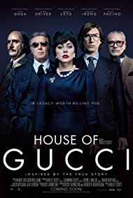 Al Pacino, Jeremy Irons, Jared Leto, Lady Gaga, and Adam Driver in House of Gucci (2021)