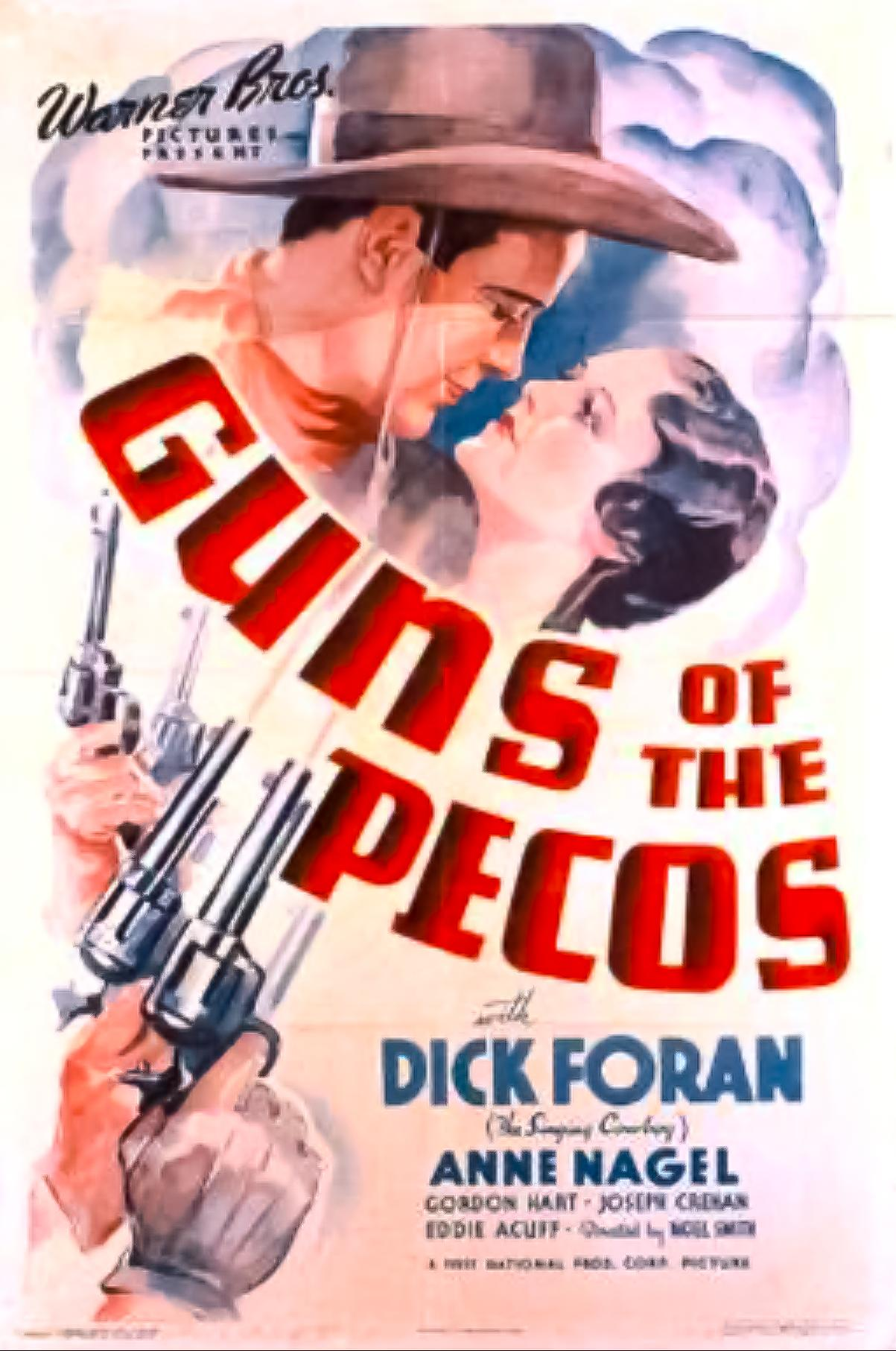 Dick Foran and Anne Nagel in Guns of the Pecos (1937)