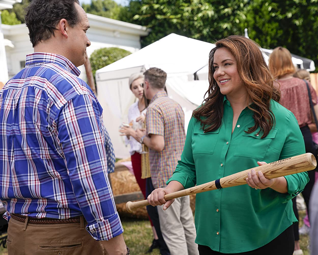 Diedrich Bader and Katy Mixon in Bed, Bath & Beyond Our Means (2019)
