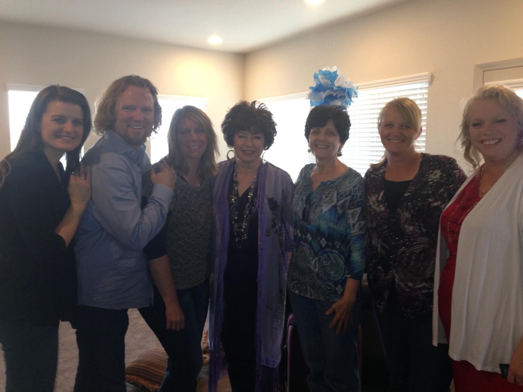Robyn Sullivan Jessop Brown, Christine Brown, Meri Brown, Janelle Brown, and Kody Brown in Sister Wives (2010)
