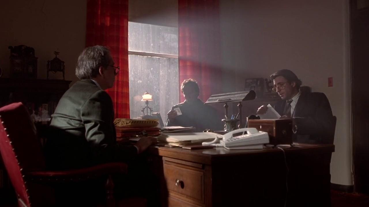Andy Garcia, Lance Henriksen, and Bob Gunton in Jennifer Eight (1992)