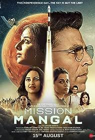 Sharman Joshi, Akshay Kumar, Vidya Balan, Nithya Menen, Sonakshi Sinha, Taapsee Pannu, and Kirti Kulhari in Mission Mangal (2019)