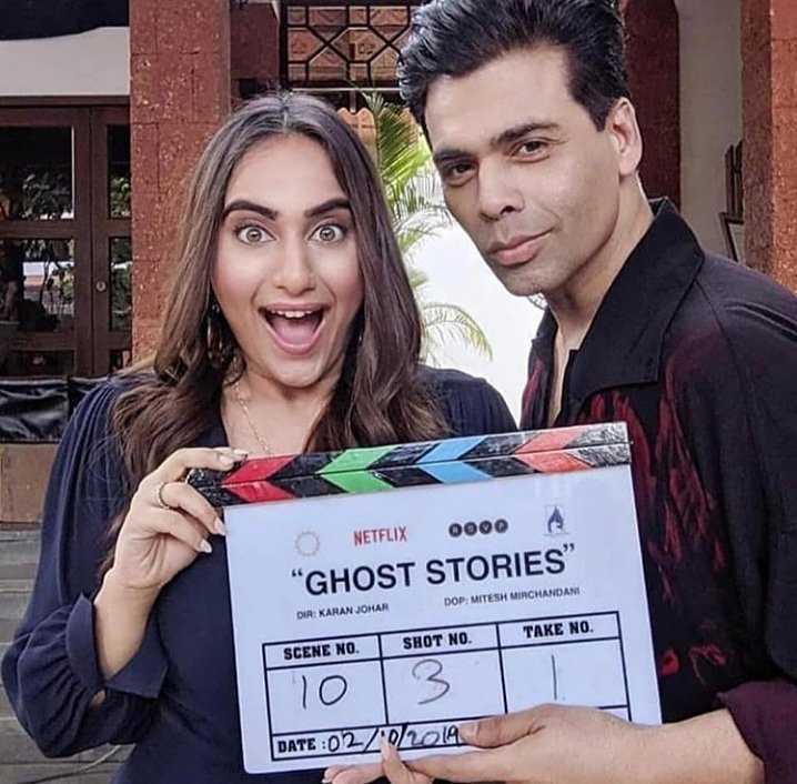 Karan Johar and Kusha Kapila in Ghost Stories (2020)