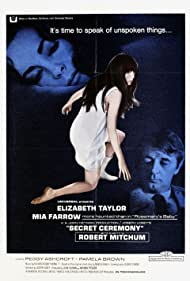 Robert Mitchum, Elizabeth Taylor, and Mia Farrow in Secret Ceremony (1968)
