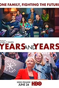 Emma Thompson, Anne Reid, Jessica Hynes, Russell Tovey, Rory Kinnear, T'Nia Miller, Ruth Madeley, Jade Alleyne, and Lydia West in Years and Years (2019)