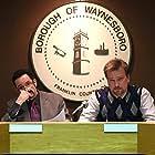 "Scott Schiaffo (Mayor Scruggs) and David Lee Madison (Joe Mason) in ""Darkness Waits"""
