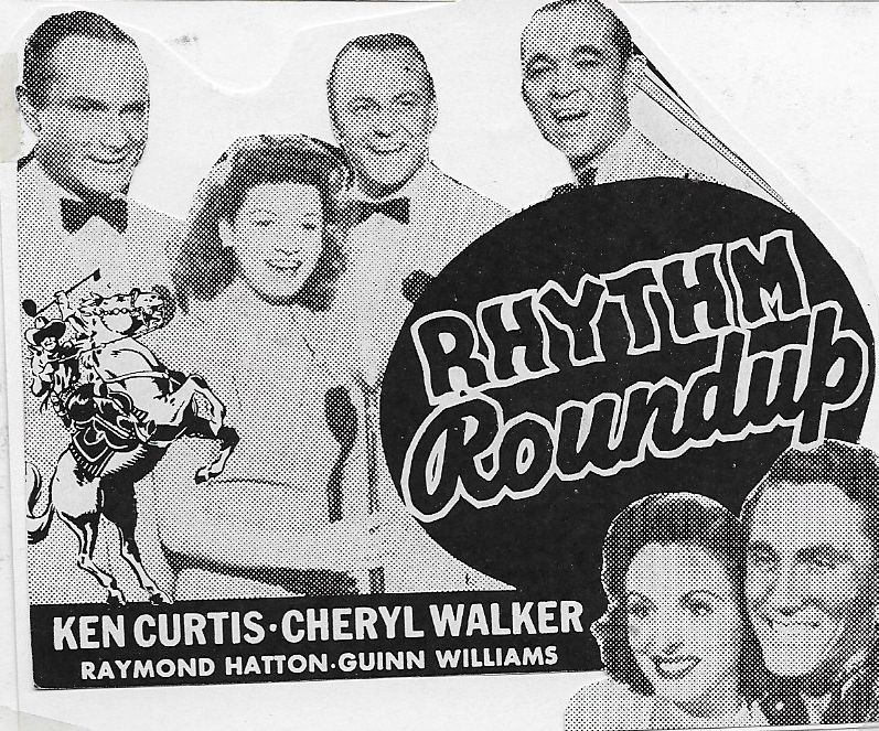 Ken Curtis, Cheryl Walker, and The Pied Pipers in Rhythm Round-Up (1945)