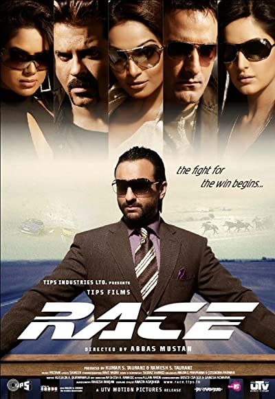 Poster of Race 2008 Full Hindi Free Download Watch Online In HD Movie Download 720p BluRay