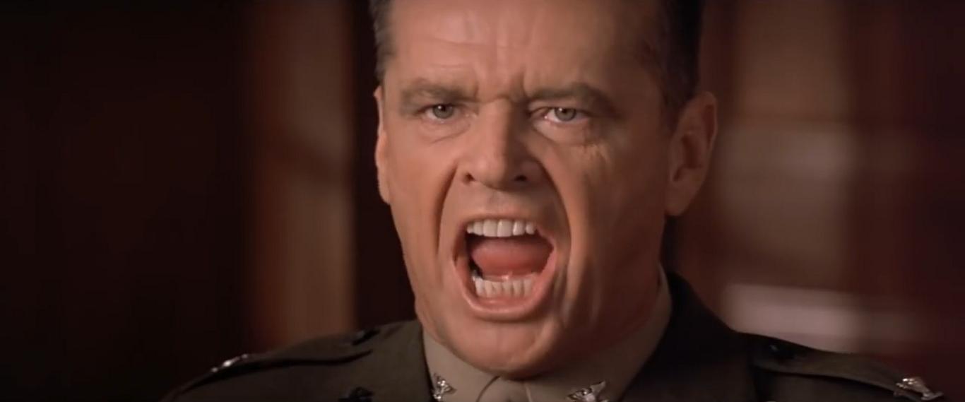 Jack Nicholson in A Few Good Men (1992)