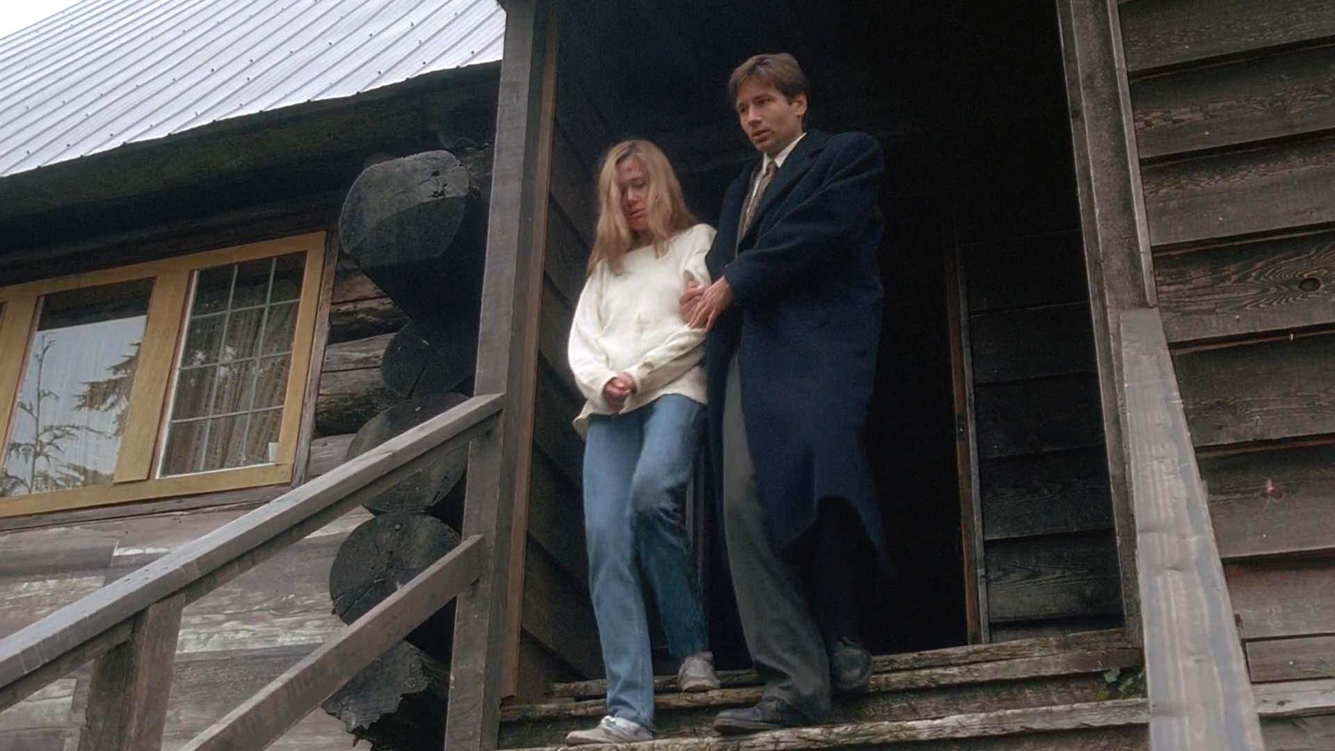 David Duchovny and Tracey Ellis in The X Files (1993)