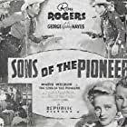 Roy Rogers, George 'Gabby' Hayes, and Maris Wrixon in Sons of the Pioneers (1942)