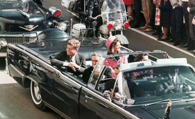 Jacqueline Kennedy and John F. Kennedy in Zapruder Film of Kennedy Assassination (1963)