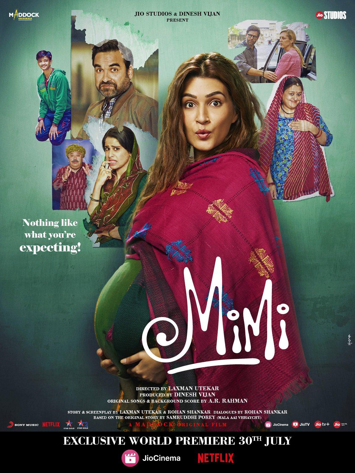Download Mimi (2021) Hindi Full Movie 480p [300MB] | 720p [1GB] | 1080p [2GB]