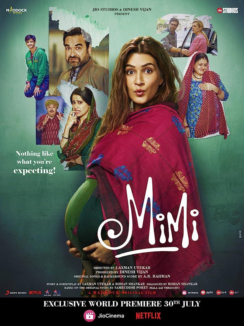 Mimi 2021 Hindi Movie 480p JIO HDRip 400MB Download