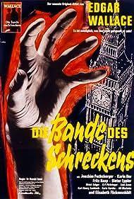 Fritz Rasp, Karin Dor, Dieter Eppler, Joachim Fuchsberger, Harald Reinl, and Edgar Wallace in Die Bande des Schreckens (1960)