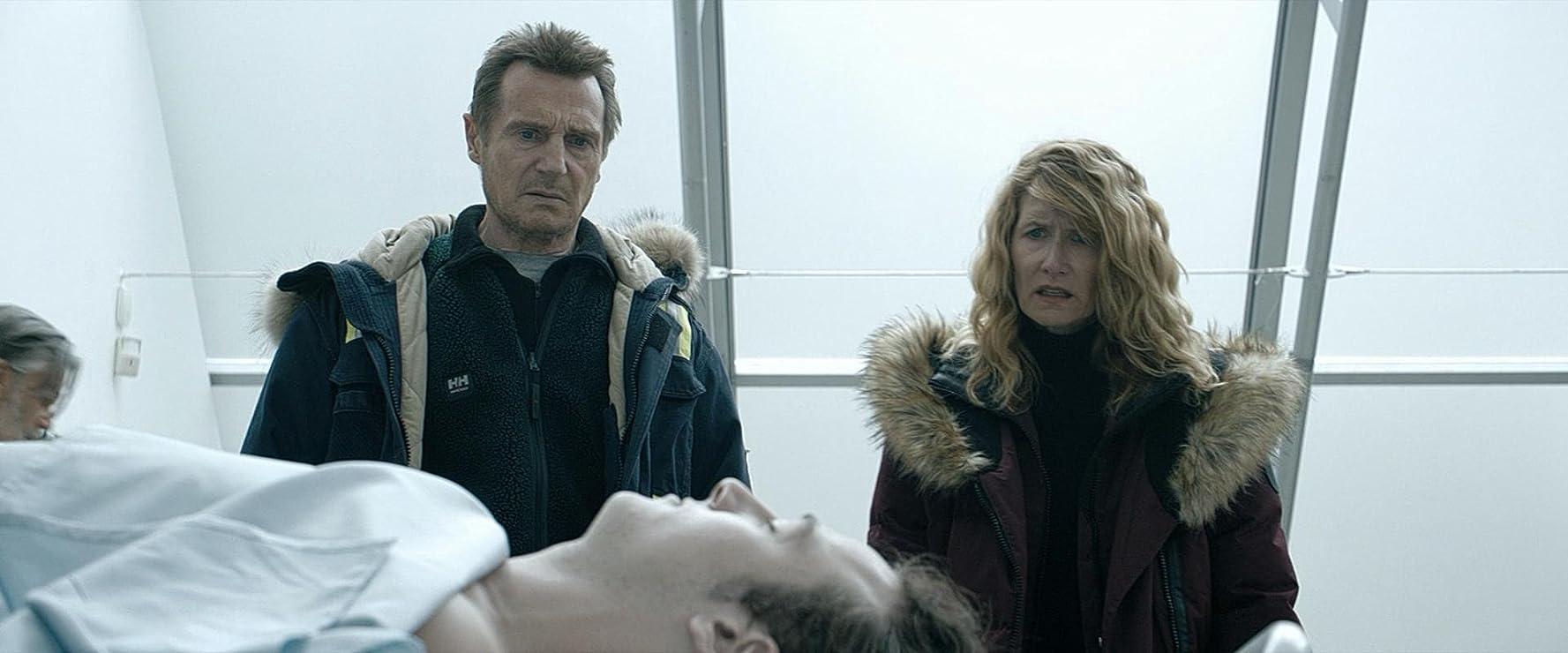 Laura Dern, Liam Neeson, and Micheál Richardson in Cold Pursuit (2019)