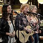 Victoria Justice, Bridgit Mendler, and Ed Sheeran in Undateable (2014)