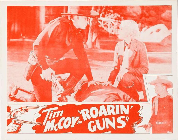 Tim McCoy and Rosalinda Price in Roarin' Guns (1936)