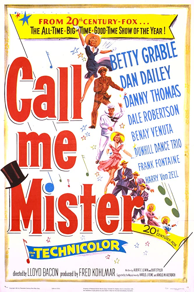 Betty Grable and Dan Dailey in Call Me Mister (1951)