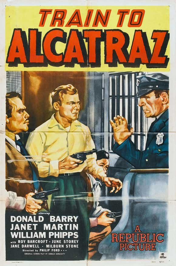 Roy Barcroft, Don 'Red' Barry, and Marc Krah in Train to Alcatraz (1948)