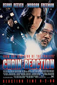 Morgan Freeman and Keanu Reeves in Chain Reaction (1996)