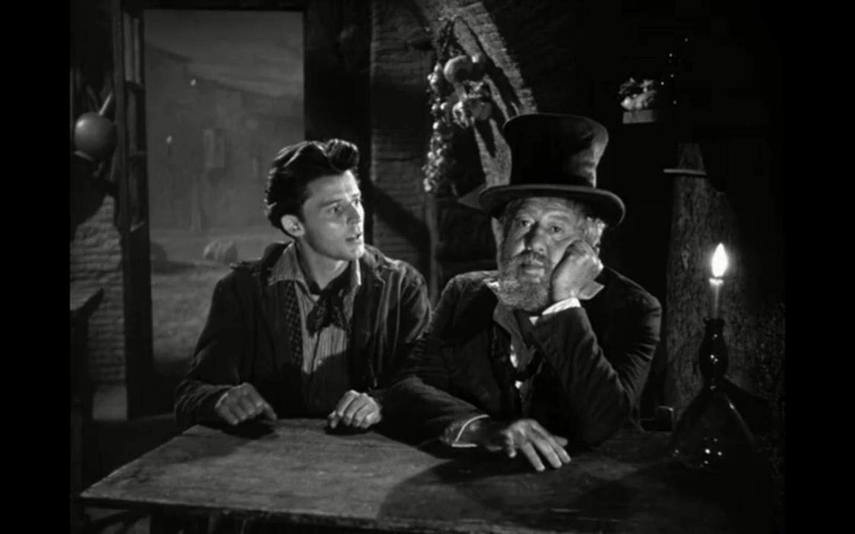 Gérard Philipe and Michel Simon in La beauté du diable (1950)