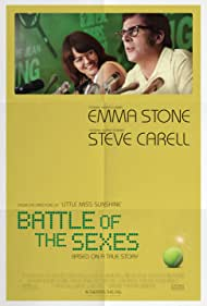 Elisabeth Shue, Bill Pullman, Steve Carell, Sarah Silverman, and Emma Stone in Battle of the Sexes (2017)