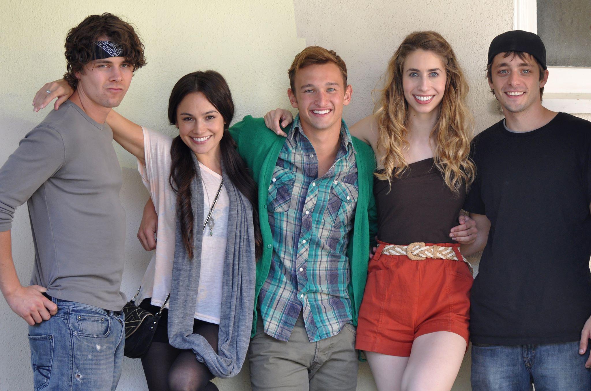 Jessica Lee Keller, Riley Bodenstab, Ben Adams, Grace Folsom, and Kent Boyd in Schoooled (2013)