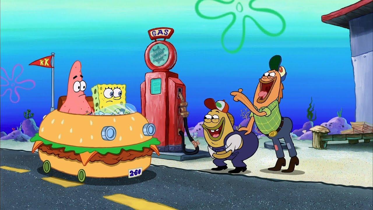Dee Bradley Baker, Bill Fagerbakke, Tom Kenny, and Mr. Lawrence in The SpongeBob SquarePants Movie (2004)
