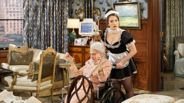 Judith Roberts and Kat Dennings in 2 Broke Girls (2011)