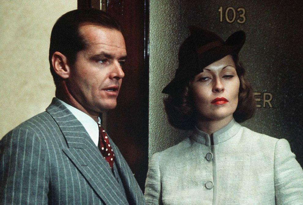 Jack Nicholson and Faye Dunaway in Chinatown (1974)