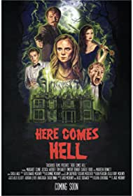Jasper Britton, Margaret Clunie, Timothy Renouf, Jessica Webber, and Tom Bailey in Here Comes Hell (2019)