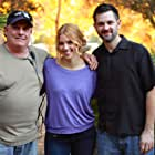 """Marc Ferrero, Carlie Casey and Sean Robert Olson on the set of """"The Contractor"""""""