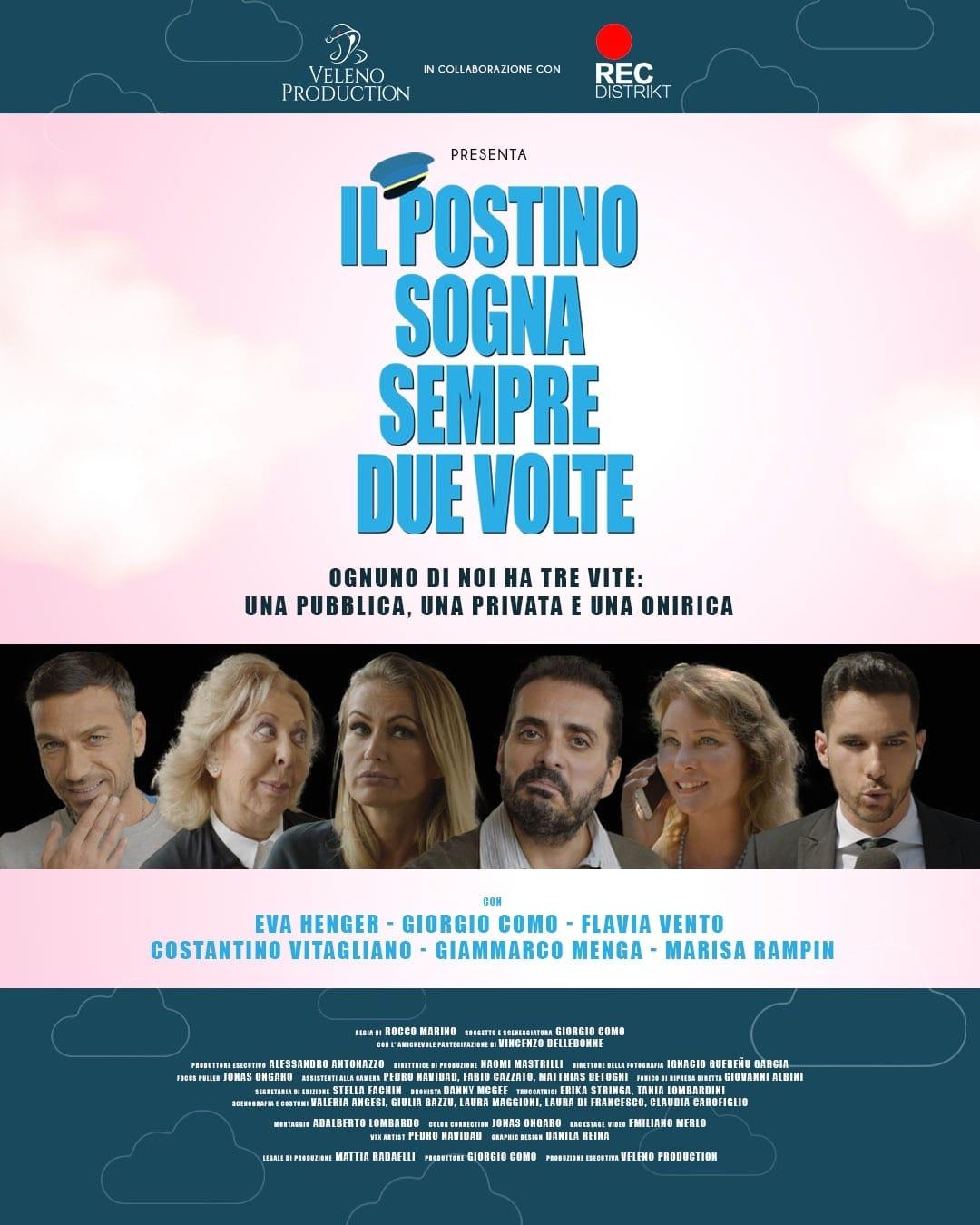 Eva Henger, Marisa Rampin, Flavia Vento, Costantino Vitagliano, and Giorgio Como in Il postino sogna sempre due volte (2020)