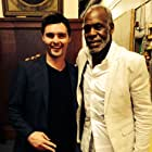 Timothy Woodward Jr and Danny Glover on the set of Checkmate