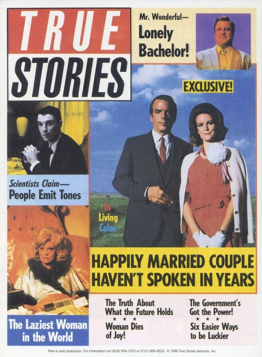John Goodman, Swoosie Kurtz, David Byrne, Spalding Gray, and Annie McEnroe in True Stories (1986)