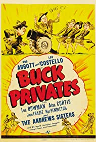 Bud Abbott, Laverne Andrews, Maxene Andrews, Patty Andrews, Lou Costello, and The Andrews Sisters in Buck Privates (1941)