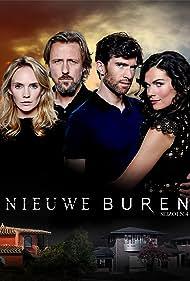 Benja Bruijning, Daan Schuurmans, Bracha van Doesburgh, and Anna Drijver in Nieuwe buren (2014)