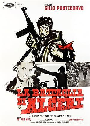La batalla de Argel Cartel de la película