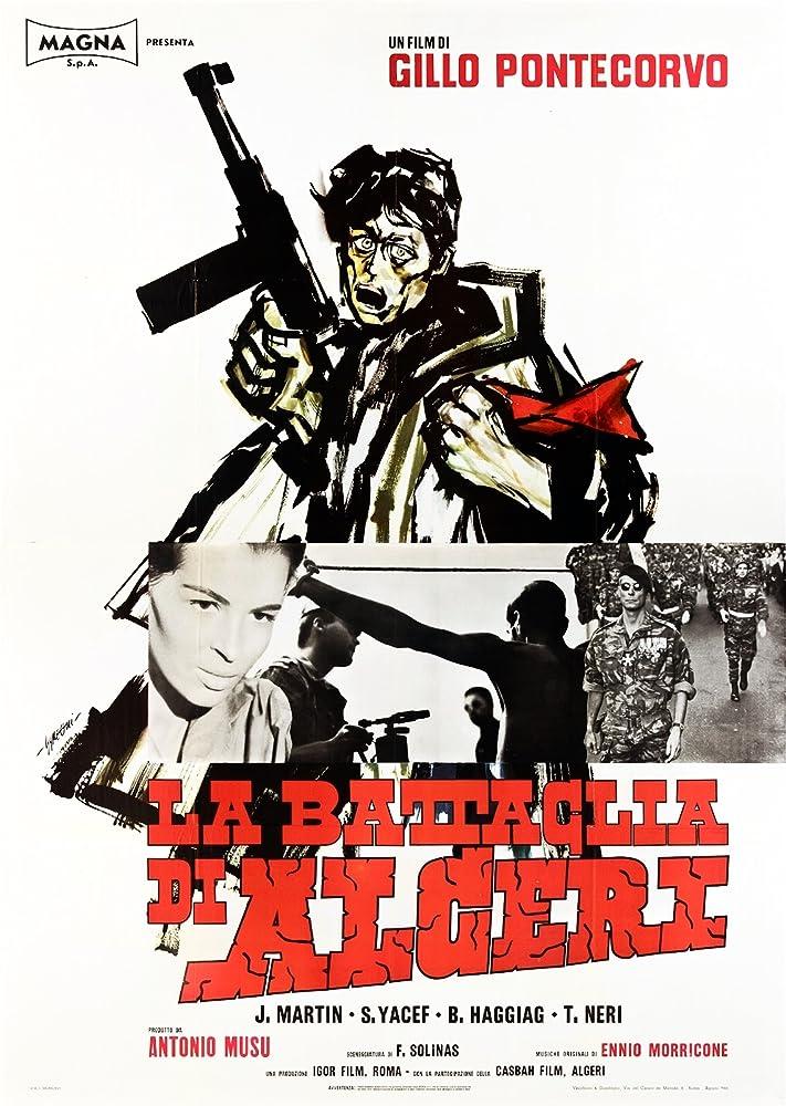 Fusia El Kader and Jean Martin in La battaglia di Algeri (1966)