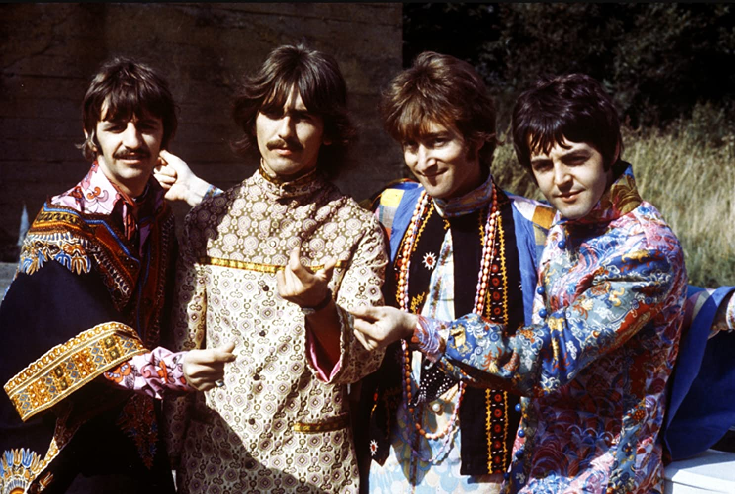 Paul McCartney John Lennon George Harrison Ringo Starr and The Beatles in Magical Mystery Tour 1967