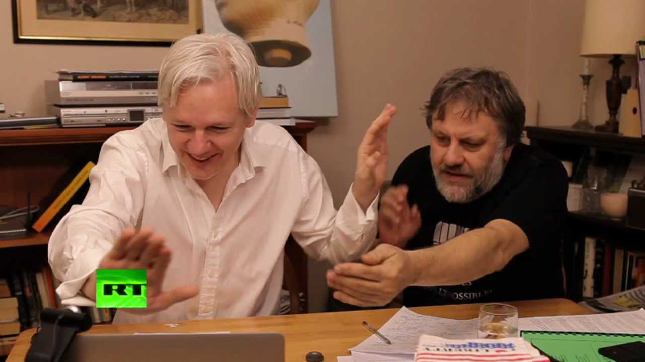 Slavoj Zizek and Julian Assange in The World Tomorrow (2012)