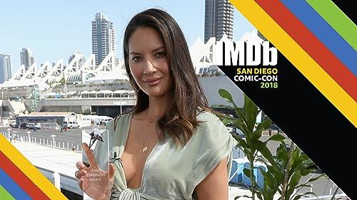 Olivia Munn Accepts IMDb STARmeter Award